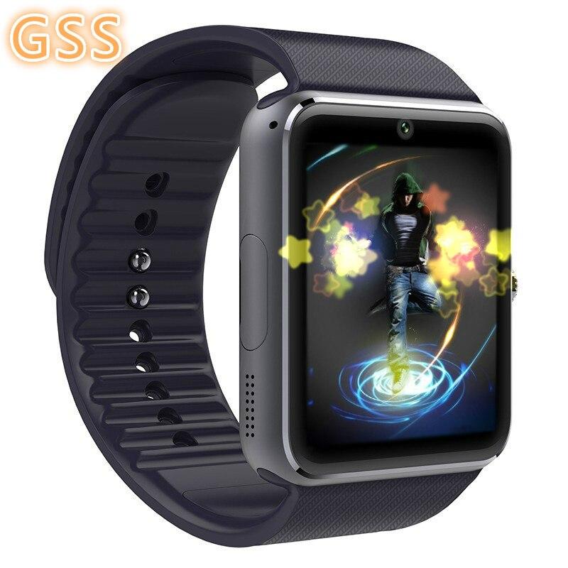 Relógio inteligente GT08 atualizada com cor prata bateria 61D motherboard toque screen Câmera Bluetooth música men wrist smartwatch