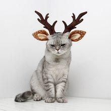Для ухода за кошками обруч на голову с рогами для рождественской