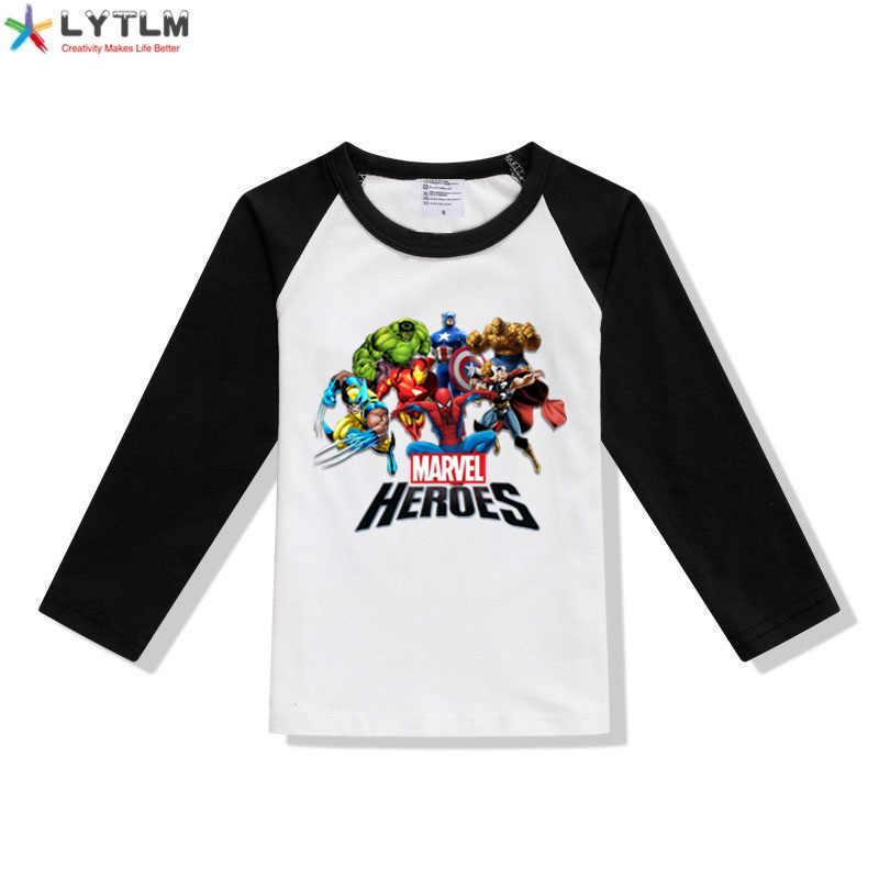 LYTLM Avengers T koszula dzieci superbohaterowie odzież Marvel koszula z długim rękawem maluch chłopiec koszule Camisas dzieci t-shirty dla dziewczynek