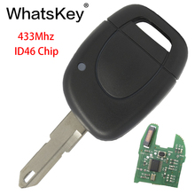 WhatsKey 1 Buttons Car Remote Key 433Mhz ID46 PCF7946 Chip Fit For Renault Master Clio Twingo Kangoo NE73/ VAC102 blade Uncut whatskey 1 button remote car key shell fob case cover for renault twingo clio master scenic kangoo vac102 blade replacement
