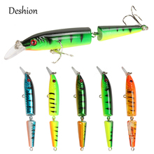 Deshion New Artificial Swimbait Multi Jointed Fishing Lure 10.5cm 9g 2-segment Hard Bait 6# Hook Wobblers Sea
