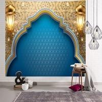 Eid Mubarak decoración decoraciones Ramadán para casa tapiz colgante de pared musulmana Festival tapiz de fondo tela dormir tapiz