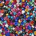 200 шт 6 мм Ассорти алюминиевых розовых кабошонов для дизайна ногтей крошечная Роза цветок цвет брызг кабошон с плоской задней частью украшен...