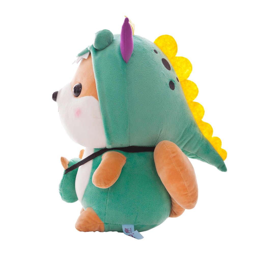 1 шт. 35 см в форме животного мягкая игрушка PP Плюшевая Игрушка В Форме динозавра дизайн милый креативный для детей (зеленый)