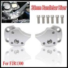 Kierownica Riser dla Yamaha FJR1300 FJR 1300 2001 2002 2003 2004 2005 srebrny i czarny motocykl uchwyt bar piony zamontować zacisk