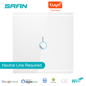 Image 1 - SRAN EU Wall Wifi Light Switch 1/2/3Gang 1/2Way Interruptor Inteligent,TUYA Smart Wireless Switch Work With Alexa Google Home