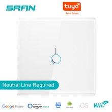 Sran Eu Muur Wifi Lichtschakelaar 1/2/3Gang 1/2Way Interruptor Inteligent, tuya Smart Draadloze Switch Werken Met Alexa Google Thuis