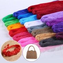 Linha oca handwork crochê decorações sacos suéter fio para tricô linha mão malha colorida artesanal para diy