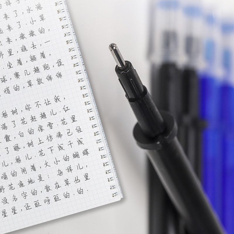 0.5mm Erasable Pen Set  Blue Black Ink Gel Pen Erasable Refill Rod Washable Handle School&Office Writing Stationery Gel Ink Pen 5