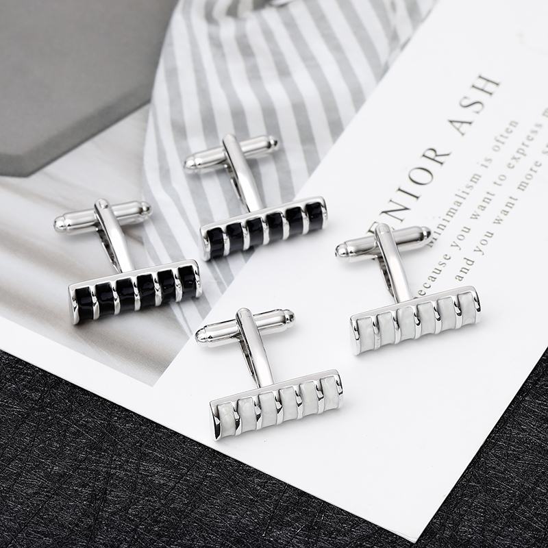 New Arrive Rectangular Geometric Stripe Creative Cufflinks High-End Successful Men's  Choice Of Classic Cufflinks Free Shipping