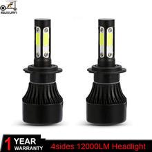 Fuxuan 2 шт h4 светодиодный лампы для передних фар h7 Автомобильные