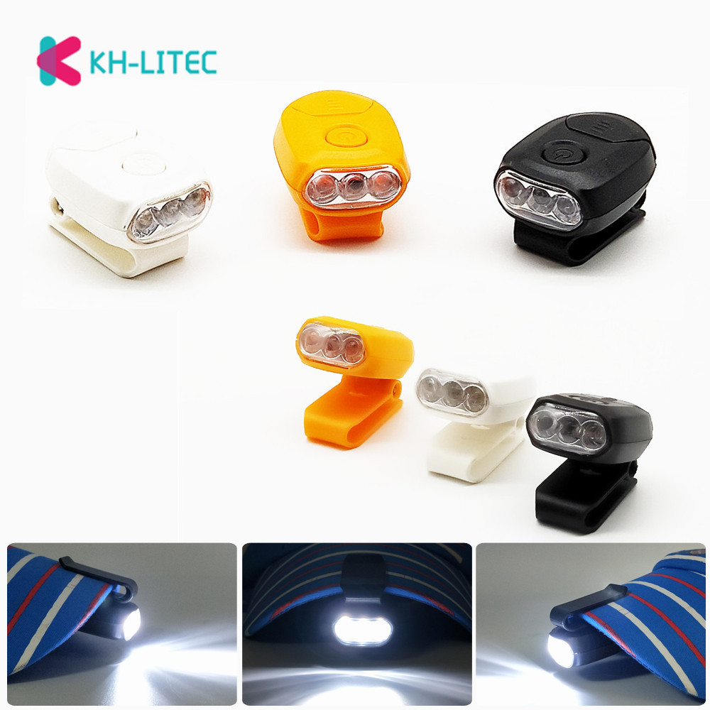 3LED Headlamp Cap Light 90 Degree Rotatable Clip-on Hat Light Hands Free Bright Head Lamp Lantern Camping Cycling