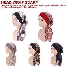 New Women Elastic Fashion Muslim Woman Hijabs Turban Head Cap Hat Beanie Ladies Hair Accessories Scarf Loss