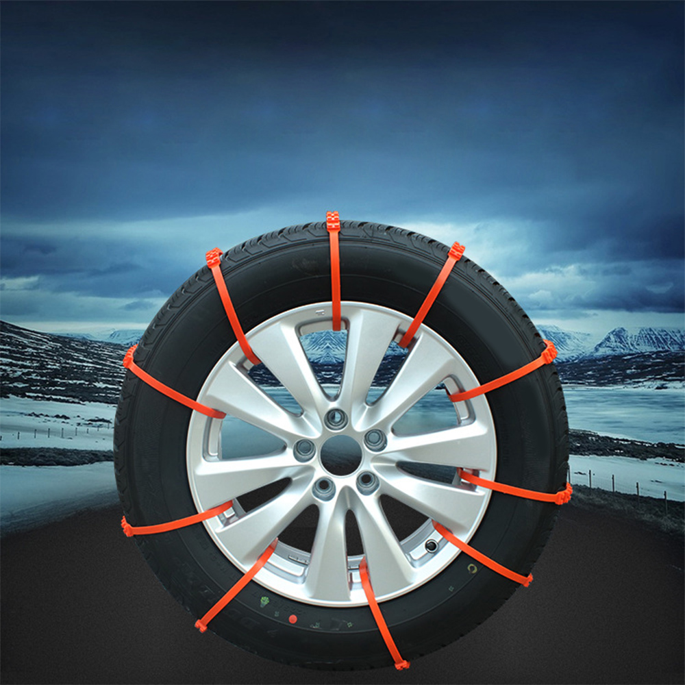 Купить с кэшбэком 10PCS Car Universal Anti-Skid Chains Winter Mini Plastic Tyres wheels Snow Chains For Suv Car-Styling Autocross Outdoor