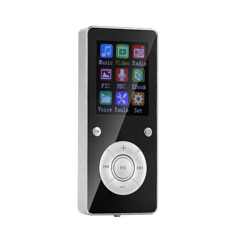 AMS-T3 mp3 player leitor de música portátil 1.8 polegada bluetooth 4.2 suporte 32g lossless música alta fidelidade