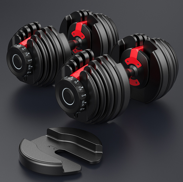 GRT Fitness 40kgs-Aujustable-Dumbbells-Set-Fitness-Equipment-for-Home-Gym-Weight-for-24kgs-Adjustable-Dumbbells-for-Weight Aujustable Dumbbell Sets and dumbbell stands for Home Gym workout