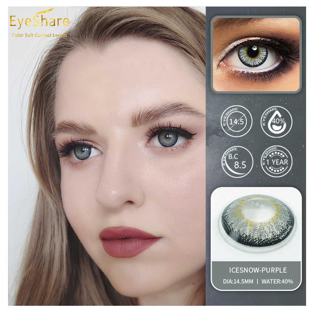 EYESHARE 1 para (2 szt.) IceSnow kolorowe soczewki kontaktowe do oczu kosmetyczne soczewki kontaktowe kolor oczu Halloween kontakty