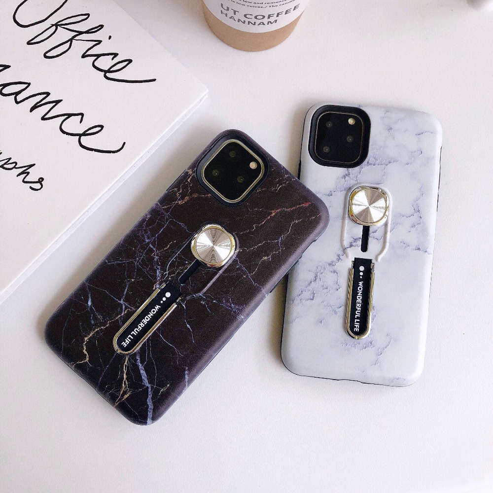 Finger Grip Mobile Case Magnetic Car Mount Holder for iPhone