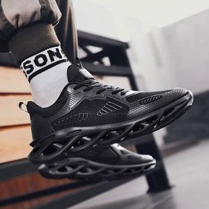 Image 1 - Tênis masculinos da moda ao ar livre respirável malha dos homens sapatos casuais chaussure homme sapatos de segurança zapatillas hombre correndo esportes
