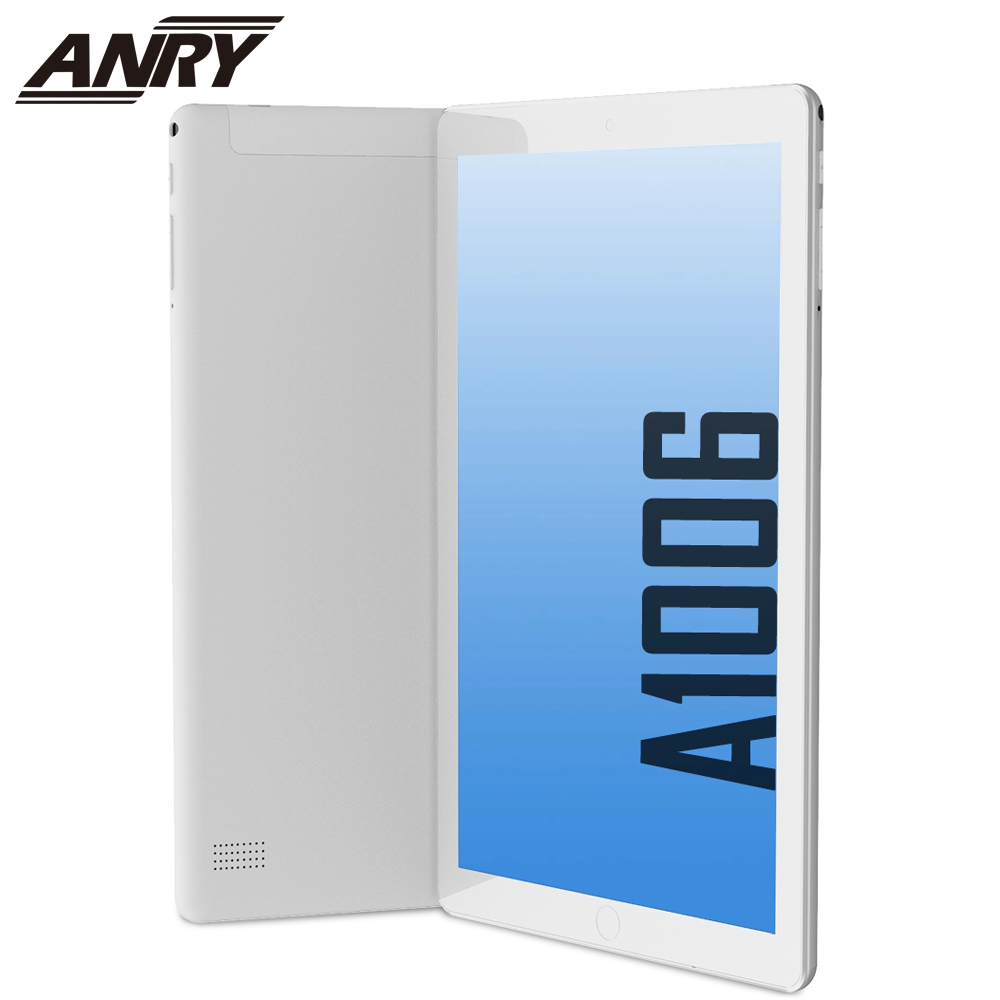 ANRY A1006 Android Tablet With SIM Card Slot Unlocked 10 Inch Quad Core 1GB+16GB 3G Phone Phablet MTK6580 Tablet Pc