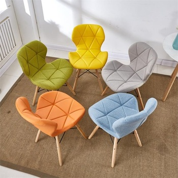 Kitchen Wood Chair Study Dining Room Back Chair Home Simple American Retro Butterfly Chairs Nordic Living Room Dining Chairs house bar lift chair dining room living room kitchen stool free shipping retail wholesale black orange color