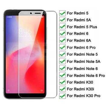 9H Protective Glass For Xiaomi Redmi 6 Pro 6A 5 Plus 5A K30i K30 Pro Glass Screen Protector Redmi Note 6 5 5A Pro Tempered Glass 1