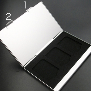 Image 3 - High Quality Portable Aluminum Micro For Micro SD TF Card 24 Slots Memory Card Storage Case Protector Holder Card Accessories