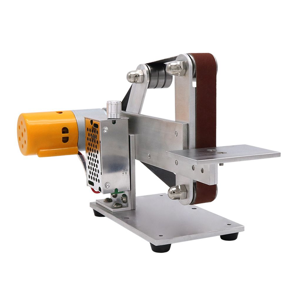Miniature Abrasive Belt Machine Small Mini Polishing Machine Grinding Machine, Table Grinder, Electric Grinder, DIY Sand Mill.