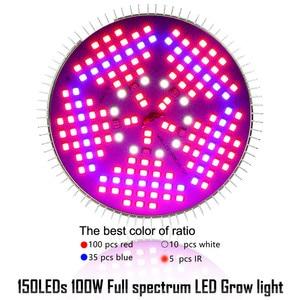 Image 4 - LVJING LED Grow light 100W 120W Full Spectrum Fitolamp Hydroponics Phyto Lamp For Indoor Vegs Flower Seedlings Plants Lighting