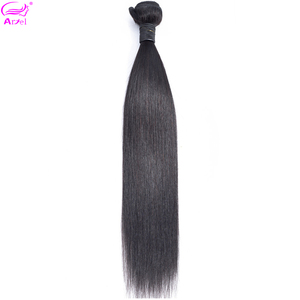 Image 1 - Ariel ผมผมตรงบราซิล 100% มนุษย์ผมสานการรวมกลุ่ม Non   Remy Hair Extensions ธรรมชาติสีซื้อ 3 หรือ 4 กลุ่ม