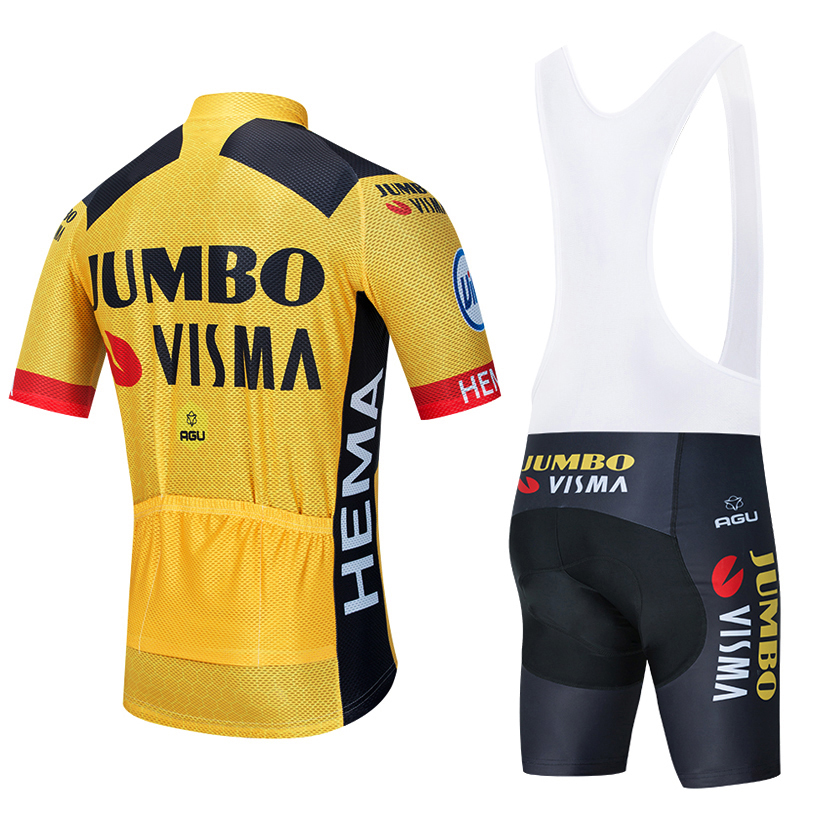 2021 JUMBO VISMA Cycling TEAM Jersey 20D Bike Shorts Suit Ropa Ciclismo Men Summer PRO Bicycle Maillot Pants Clothing