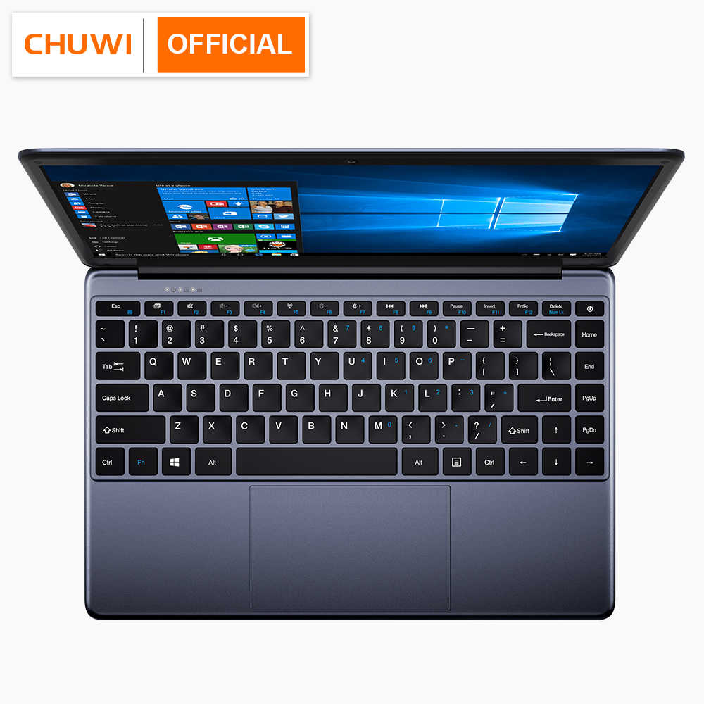 CHUWI Herobook 14.1 Inch 1920*1080 Laptop Windows 10 Intel E8000 Quad Core 4GB RAM 64GB ROM notebook dengan Tata Letak Keyboard