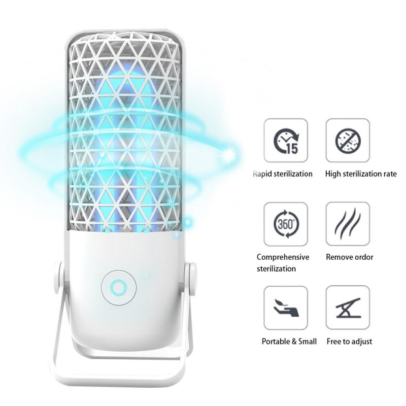 Portable UV Sanitizer Disinfection Lamp Efficient For Home Office LED Ultraviolet Disinfect Ozone Sterilizer Kill Mites Light