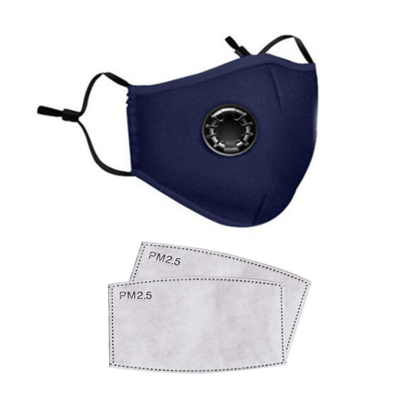 In Stock Cotton Mouth Face Mask Reusable Cover Respirator Mask With 2 PM2.5 Filters Protective Mask PK N95 Mask Ffp3
