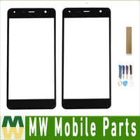 For Fly Memory Plus FS528 Touch Screen Digitizer Front Glass Lens Sensor Panel Black color with tape & Tools