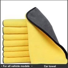 Toalha de secagem de lavagem de microfibra de lavagem de cuidados com o carro toalha de limpeza de fibra de pelúcia grossa forte
