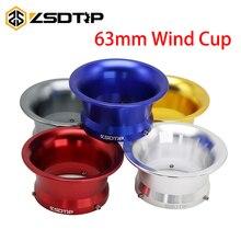 ZSDTRP 63 мм KEIHIN PWK34 36 38 40 42 мм Конкурентоспособная мото Модифицированная карбюратор воздушный фильтр чашка ветер чашка цветная чашка с рожком алюминий