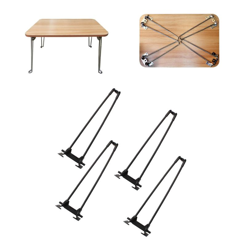"""4Pcs 14"""" Heavy Duty Hairpin Laptop Desk Foldable Legs Folding Coffee Table Legs"""