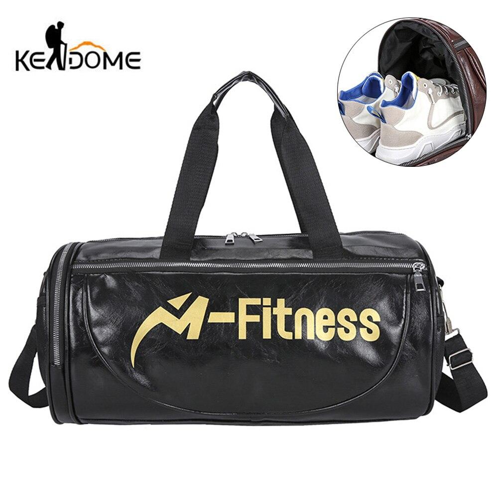 Men Gym Bag Travel Handbag Fitness Bags For Women PU Leather Shoes Storage Shoulder Gymtas Tas Sac De Sporttas 2020 New XA280D