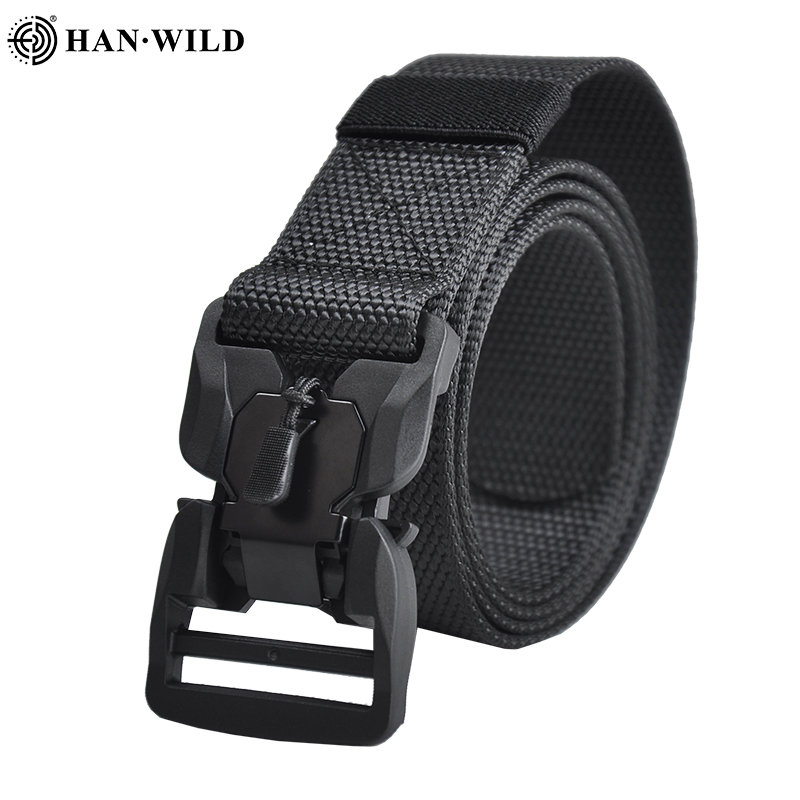 Outdoor Airsoft Military Nylon Belt Men Army Tactical Belt Combat Belts Quick Release Heavy Duty MOLLE System Waistband Gear