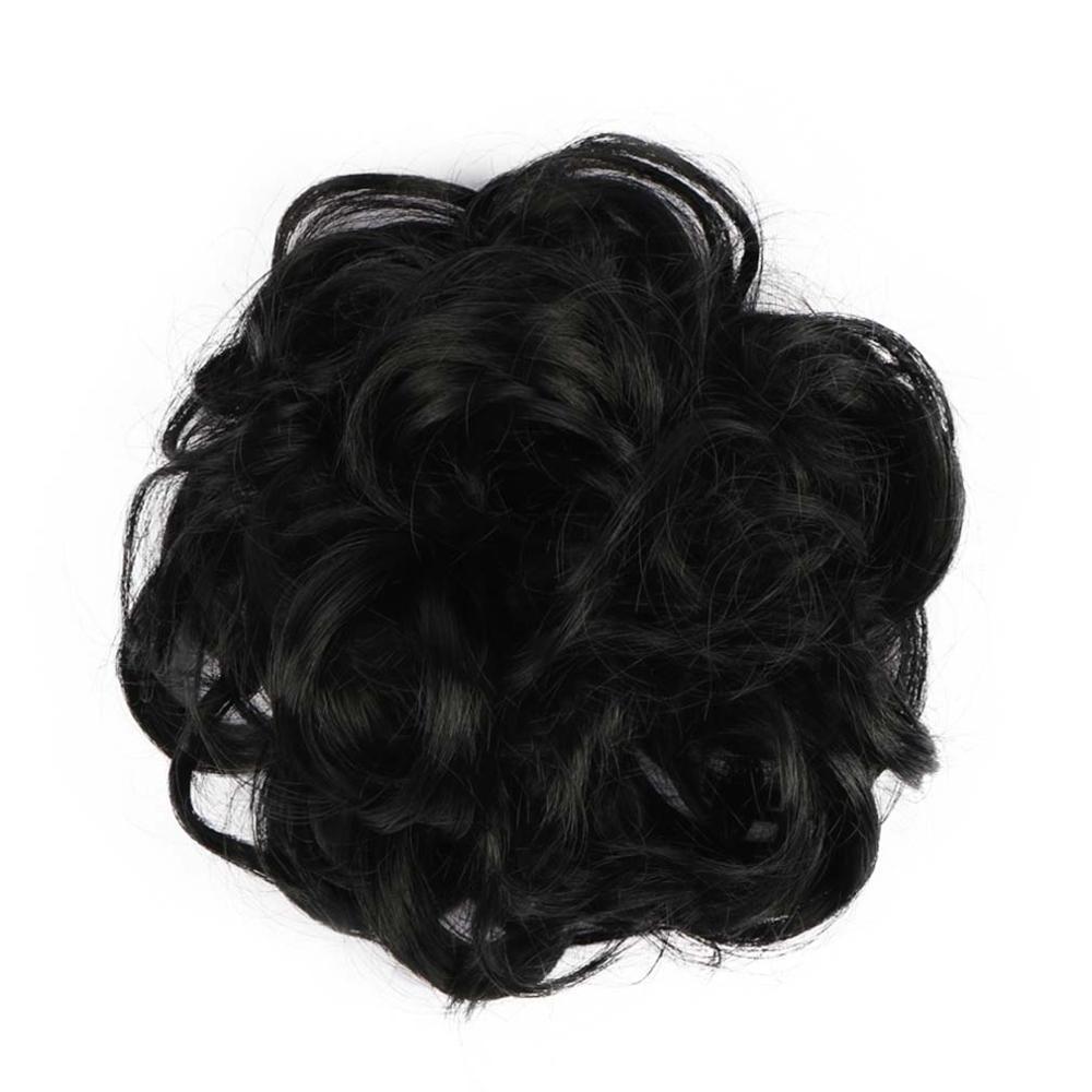 Livre beleza encaracolado chignon preto marrom loiro avelã ombre cabelo sintético feminino bun extensões de borracha banda fibra alta temperatura