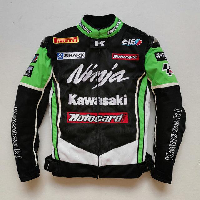 Summer Motorcycle Jackets For KAWASAKI Jacket Racing Team Motorbike Riding With Protectors Clothing