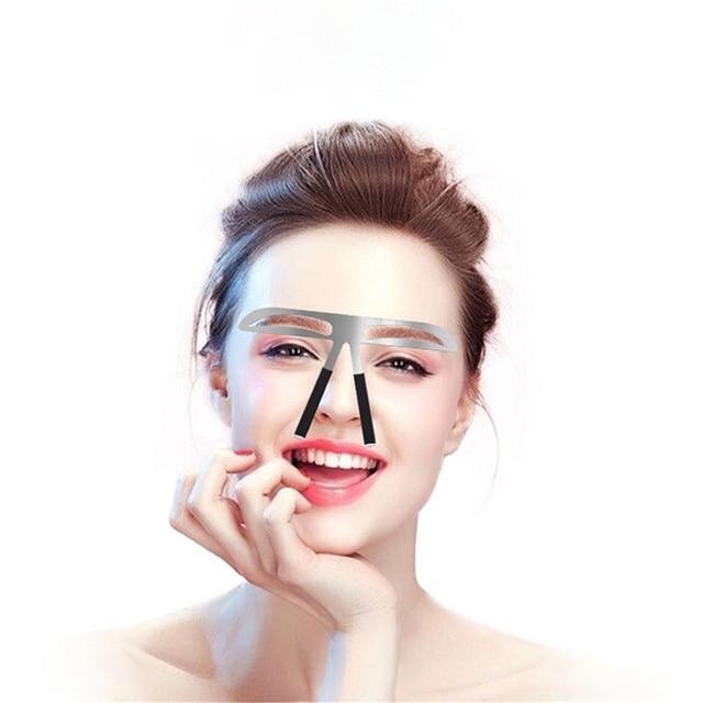 Eyebrow Shaper Makeup Aid Balance Stencil Measure Makeup Tattoo Ruler Template Hot New Make Up New Thrush Tools Convenience 2