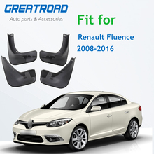 4 Uds coche trasero guardabarros bengalas de barro de salpicaduras para Renault Fluence 2008 2016