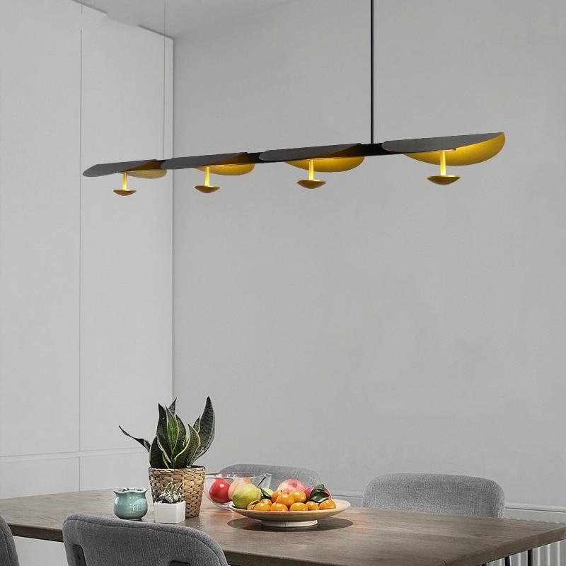 Postmodern Lotus Leaf LED Pendant Lights Living Room Dining Room Lighting Nordic Restaurant Villa Bar Study Bedroom Hanging Lamp