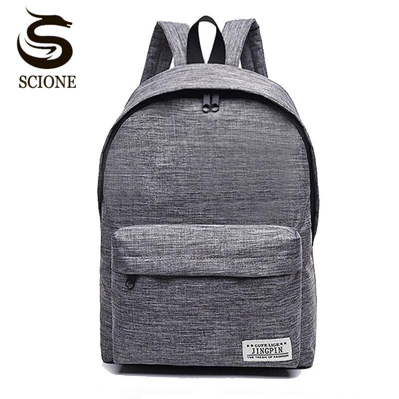 Scione Canvas Men's Backpack Male/Female School Laptop Backpack For Teenagers Travel Bagpack Stachels Rucksack Mochila