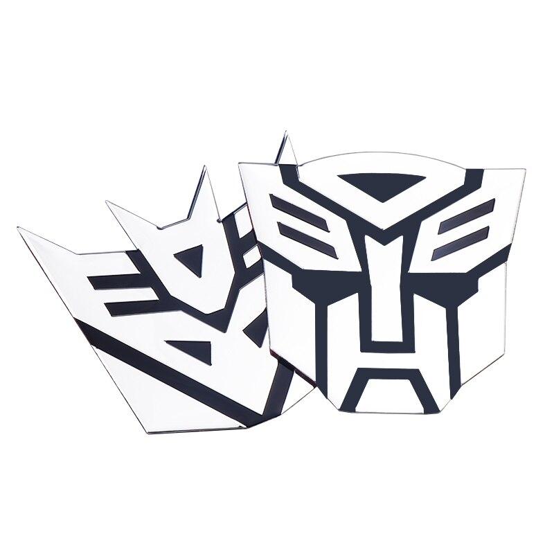 Car styling 3D Aluminum Alloy Protector Transformers Autobot Metal Emblem Badge Car Sticker Decoration Auto Accessories