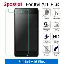 2 unids/lote para Itel A16 Plus vidrio templado 9H 2.5D película protectora de pantalla Premium para Itel A16 Plus