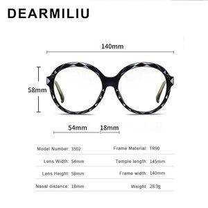 Image 4 - DEARMILIU 2020 New Womens Blue Light Blocking Glasses Round Frame Classic Flat Mirror Reading Computer Eyeglasses Lunettes