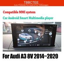 TBBCTEE lecteur MMi stéréo, navigation GPS, écran tactile, HiFi, WiFi, BT, pour Audi A3 8V (2014, 2015, 2016, 2017, 2018, 2019)